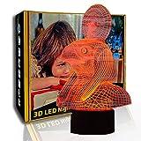 KangYD 3D Luz nocturna Pharaoh Escort, lámpara de ilusión LED, lámpara de mesa para niños, F- Base de audio Bluetooth (5 colores), Arte Lámpara de noche, Lámpara moderna