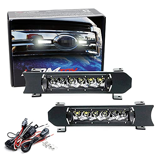 iJDMTOY Front Grille LED Light Bar Kit Compatible With 2017-2019 Ford Pre-LCI...