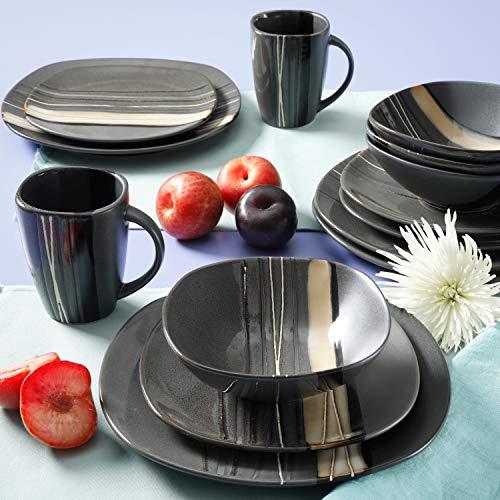 Better Homes & Gardens Bazaar Teal 32-piece Dinnerware Set - Multicolors (Gray)