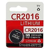 KeylessOption 2016 Battery Long Lasting 3v Lithium for Keyless Entry Remote Smart Key Fob Alarm Head Flip Keys CR2016