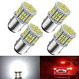 1157 Led Brake Light Bulb, 12V-24V 1157 7528 2357 2057 BAY15D LED Replacement Light Bulb for Brake Tail Running Parking Backup Light for Car RV Trailer Boat, 54SMD 3014 Chipset White light, 4PCS