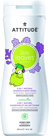 Attitude Little Leaves 2In1 Natural Shampoo For Kids - Vanilla And Pear - 473 ml
