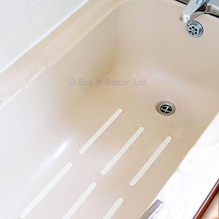 12Pcs//6pcs Anti Slip Bath Grip Stickers Non Slip Shower Strips Flooring Safety T