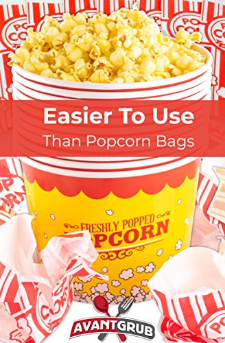 Product Image 5: Leakproof, Super Durable 85oz Popcorn Buckets 3 Pack. Grease-Proof Disposable Pop Corn Tubs With Cool Design Are the Ultimate Movie Theater Accessory. Large Containers Great for Any Party or Event