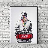 ZXCLKJH Banksy Kunstdruck Auf Leinwand,Banksy Handbemalte