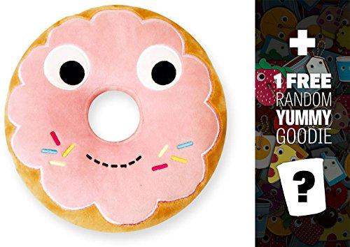 "Yummy World Yummy Pink Donut: ~9.5"" Kidrbot Plush + 1 Free Official Yummy Mini-Item Goodie Bundle"