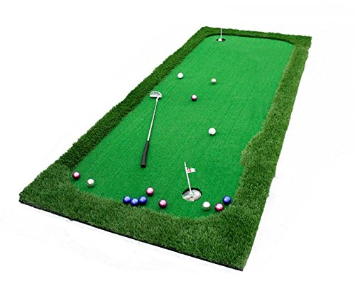 Great Price! RUNWEI Putter Practice Blanket,Home Golf Putting Mat,Golf Green Putting Tra...