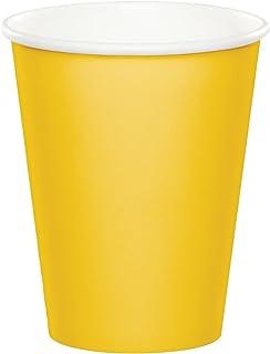 اكواب ورقية للاستخدام الواحد من كرياتيف كونفيرتينغ، عبوة بها 8 قطع، بلون اصفر زاهي