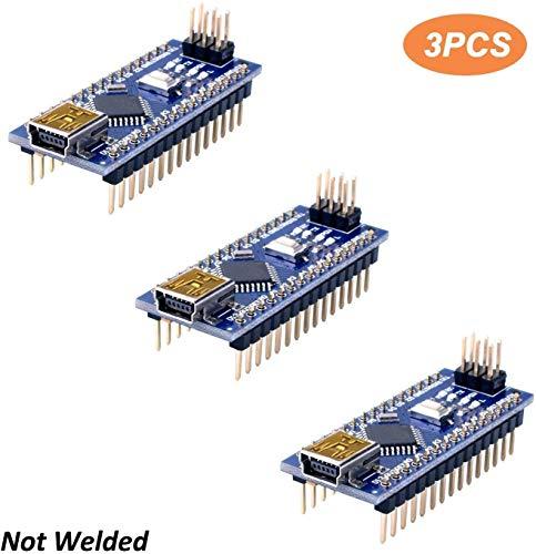 Longruner Mini Nano V3.0 ATmega328P 5V 16M Micro Controller Board Module for ArduinoIDE (3 Packs)