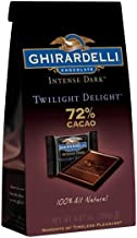 Ghirardelli Twilight Delight Intense Dark 72% Cacao Squares, 4.87 Oz, Pack of 2