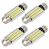 Safego 4x C5W LED Blanca 41mm 30-SMD-3014 211-2 578 Bombilla Festoon Interior del Coche 6000k