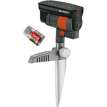 Gardena 38124 ZoomMaxx Oscillating Sprinkler on Metal Step Spike