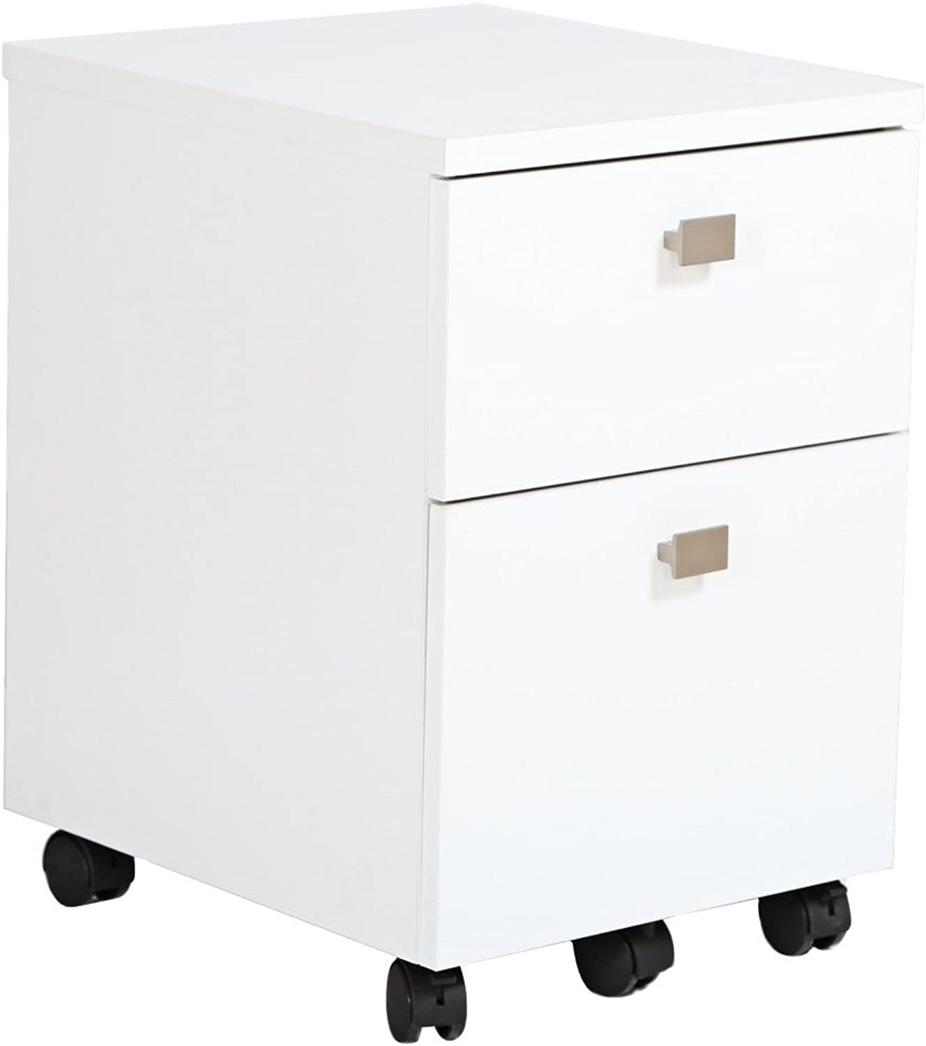South Shore Furniture Interface 2-Drawer Mobile File Cabinet, Pure White