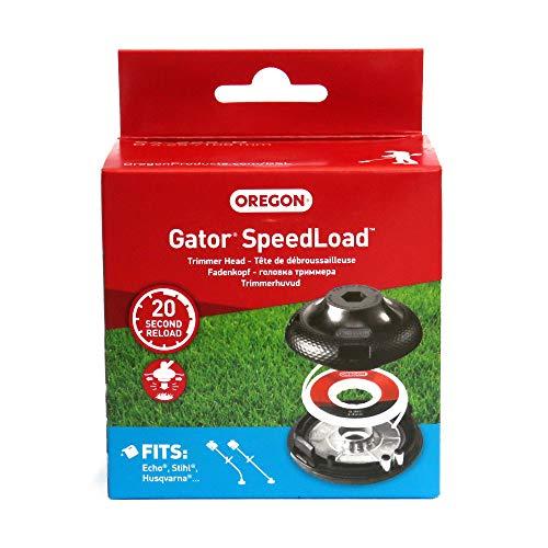 Oregon Gator SpeedLoad Universal-Trimmer, Fadenkopf und Draht für Gebogene Schäfte und Motorsensen bis 25 cc – Passend für: Stihl, Husqvarna, Al-Ko, Gardol, Dolmar, McCulloch, Ryobi, Qualcast