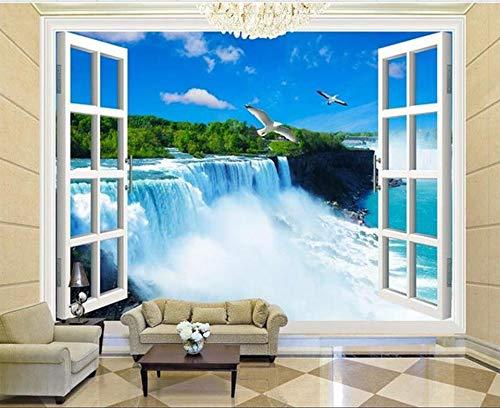 HD Wandbilder Tapeten Wandbilder Für Wände Wandbilder Für Schlafzimmer Tapeten Fototapeten Benutzerdefinierte Größe Wandbild Fensterkran Wasserfall Landschaft Bild Sofa Hintergrundbild 350x245cm