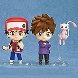 Entrenador De Roble Azul Ash Ketchum con Figura De Acción Mew Muñecas De Juguete, Figura De Anime Pokemoned Modelo Juguetes Regalos para Niños 10Cm
