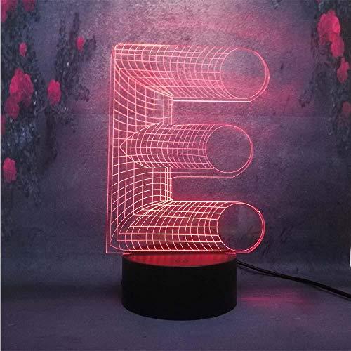 3D Illusions Lampe Table Illusion Veilleuse Alphabet Décoration De Chambre D'Enfants Cadeaux De Noël Décoration De La Maison