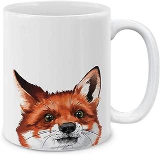 MUGBREW Cute Animal Red Fox Ceramic Coffee Gift Mug Tea Cup, 11 OZ