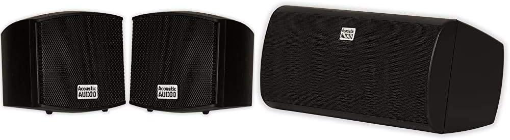 Acoustic Audio AA321B Mountable Indoor Watts Max 64% OFF 400 Black Speakers Ranking TOP19