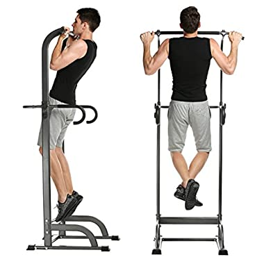 ANCHEER Pull Up Stand Full Body Power Tower Adjustable Power Tower for Home Gym (power tower)
