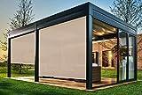 EB ESTORES BARATOS Persiana Enrollable Exterior Tecnoscreen/Bloqueo UV 70% / Microperforado (no Hace Efecto Vela)....