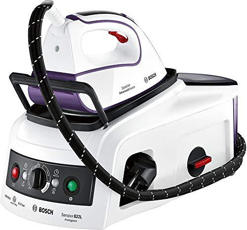 Bosch Sensixx B22L ProHygienic TDS222510H - Centro de Planchado, 2.500 W, Tecnología Hygiene, Función i-Temp, Color Blanco y Violeta