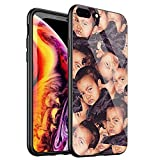 DTYZL Phone Case iPhone 6/6s,Tempered Glass Back Cover and TPU Soft Rubber Silicone Frame for Scratch and Fall Resistance DT-53 Kimoji Kim Kardashian North Kylie Jenner