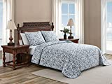 Tommy Bahama Cape Verde Collection Quilt Set-100% Cotton, Reversible, Lightweight & Breathable Bedding with Matching Shams, Pre-Washed for Added Softness, King, Smoke