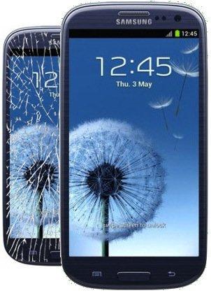 Repuestos Reparación Cristal vetrino LCD para Samsung Galaxy S3S III Pebble Bl