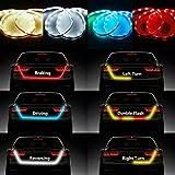 Tira de luces LED NSLUMO para maletero de coche (120 cm o 150 cm). Indican tipo de movimiento, como giros o frenados