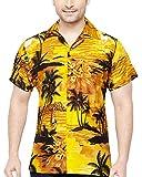 CLUB CUBANA Camisa Hawaiana Florar Casual Manga Corta Ajustado para Hombre L