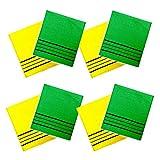 韓国スタイル バスタオルと呼ばれるイタリアタオル4枚(イエロー2個+グリーン2個)、純正エクスフォリエイティングバスミトン型ボディスクラブ洗面タオル。シャワーをお楽しみください Option2 (8pcs) 00035