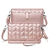 nuoku Women Small Crossbody Bag Cellphone Purse Wallet with RFID Card Slots 2 Straps Wristlet(Max 6.5'')