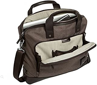 Brenthaven Medina Slim Brief with Padded Pockets Fits 15 Inch Chromebooks,Laptops,Tablets Bag for Commercial,Business and Office Essentials–Chestnut, Rugged Protection from Impact and Compression