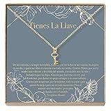 Collar Regalo Para Madre, Mamá, Día de la Madre, Cumpleaños, Día de la Mujer, Key (gold-plated-brass, NA)