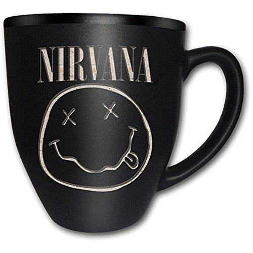 Nirvana - Keramik Tasse - Smiley - Logo - mit Gravierung - Geschenkbox