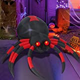 SUNYPLAY Halloween Inflatables Spiders Decorations , 6FT Outdoor Halloween Blow Up Yard Decorations Clearance with Built-in LED Lights for Holiday Graden Lawn Party