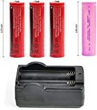 Bestsight Trial Battery 1 pc Indicator + 3pcs Battery(Red Color) for BESTSIGHT Night Vision+1pc Pink Color for Pard Night Vision
