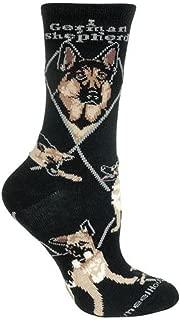 German Shepherd Argyle Socks (Shoe size 9-12)