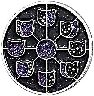 Pin de esmalte de cielo estrellado insignia espacial noche fase lunar mercurio planeta constelación astronauta vasto unive...