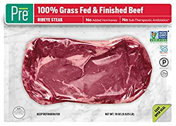 Pre, Ribeye Steak – 100% Grass-Fed, Grass-Finished, and Pasture-Raised Beef– 10oz.
