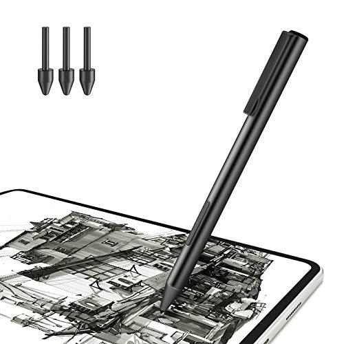 Jelly Comb Aktiver Stylus Pen für Huawei M5, Wiederaufladbarer Aktiver Eingabestift mit ultrafeiner Spitze für Huawei M5 lite 10 Zoll/M6 10.8 Zoll/Huawei MateBook E 2019/C5 10.1 Zoll, Schwarz