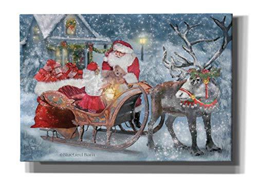Epic Graffiti 'Santa's Little Helper' by Bluebird Barn, Canvas Wall Art, 26'x18'