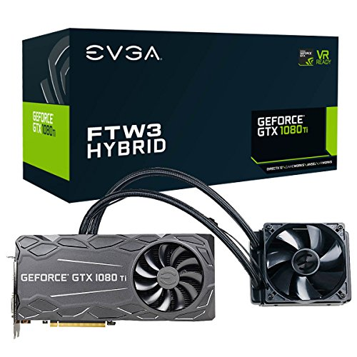 EVGA GeForce GTX 1080 Ti FTW3 Hybrid Gaming, 11 GB GDDR5X, Hybrid & RGB LED, iCX Technologie, 9 Thermosensoren Grafikkarte 11G-P4-6698-KR