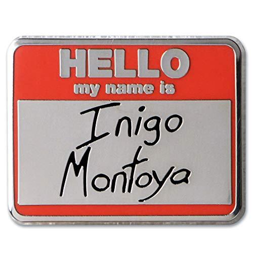"Ata-Boy The Princess Bride 'Hello My Name is Inigo Montoya' 1"" Full Color Enamel Pin"