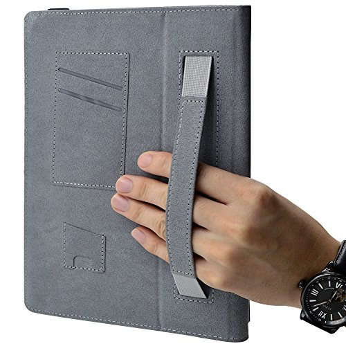『F.G.S ブラック HUAWEI docomo Dtab d-01H ケース Dtab d-01H カバー 手帳型 スタンド機能、カードセット付き 手持ちハンド付き F.G.S正規代理品』の4枚目の画像