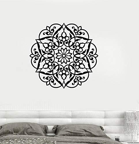 Lotus Mandala Yoga Studio Etiqueta de la pared Adorno Budismo Rilaxation Meditación Etiqueta de la pared Removible Habitación Decoración Mural A5 30x30cm