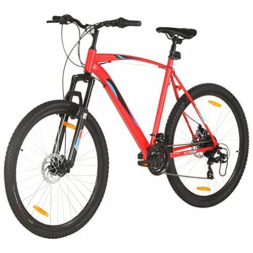 """Tidyard Vélo de Montagne 21 Vitesses Roues 29 Pouces Cadre 53 cm Rouge, VTT 29"""" Vélo pour Adulte Freins à Disque"""