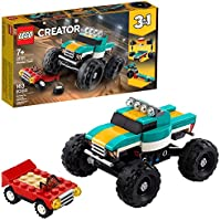 LEGO Creator 3in1 Monster Truck Toy 31101 Cool Building Kit for Kids, New 2020 (163 Pieces)