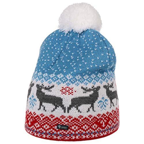Lipodo Reindeer Multicolour Pomponmuts Dames/Heren - Made in the EU heren muts dames gebreide met voering voor Herfst/Winter